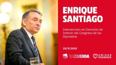 Photo of Enrique Santiago: «VOX usa a los cuerpos y fuerzas de seguridad del Estado para sus intereses partidistas»