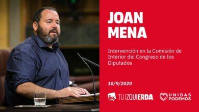 Photo of Joan Mena: «El sistema penal está para reinsertar, no para dar 'plomo' a los delincuentes como pide VOX»