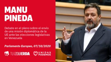 Photo of Manu Pineda: «La única alternativa al diálogo y a las vías diplomáticas en Venezuela que ofrecen la derecha y la extrema derecha es la violencia»