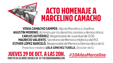 Photo of Acto homenaje a Marcelino Camacho