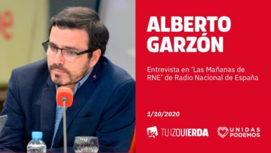 Photo of Alberto Garzón: «Es irresponsable que haya dirigentes políticos jugando a desgastar al Gobierno cuando hay vidas en juego»
