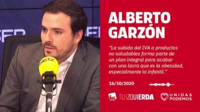 Photo of Alberto Garzón: «La subida del IVA a productos no saludables forma parte de un plan integral para acabar con la obesidad, un problema especialmente grave en edad infantil»